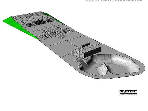 Ilustrační foto, jak by měl vypadat skatepark 'vana' vTeplicích.