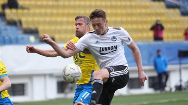 Jakub Mareš se proti Zlínu příliš do hry nedostal.