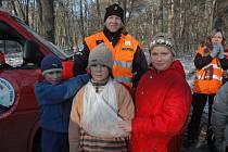 Mladí hasiči na stanovišti zdravovědy