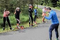 Mladé lyžařky z Teplicka okusily trénink s reprezentací.