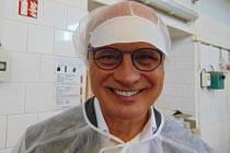 Michal Horáček navštívil pekárnu v Proboštově.
