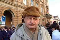 JAKUB BLACKÝ. Loni v lednu s námi ještě čekal na domažlickém náměstí na příjezd prezidenta Václava Klause.