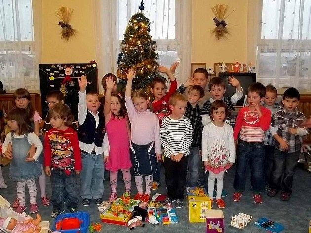 Vánoční besídka v MŠ Tlumačov.