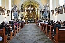 Jiří Stivín v kostele sv. Martina v Klenčí pod Čerchovem v jaře 2017.