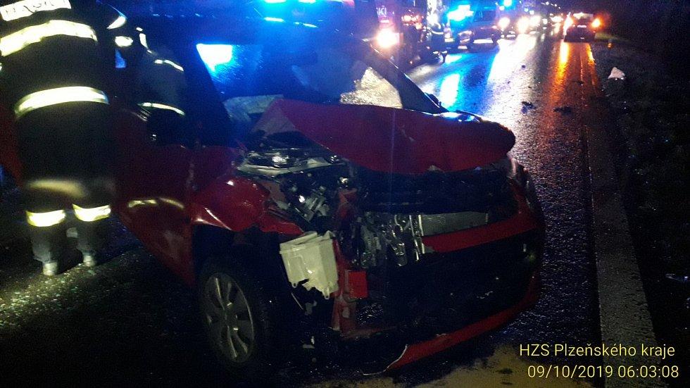 U nehody, kterou zavinilo prase, zasahoval i vrtulník