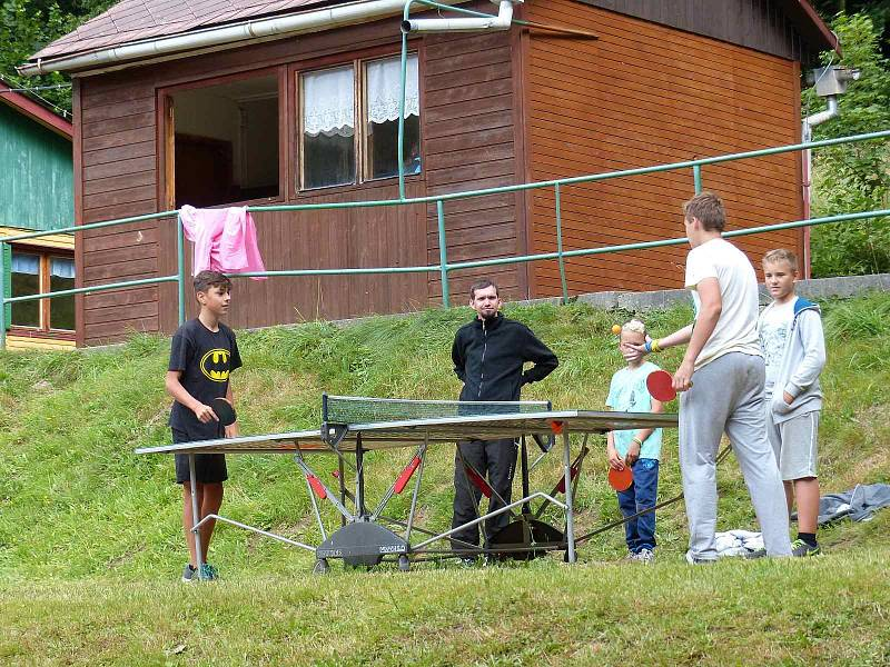 Z letního tábora v Rudolfově Pile.