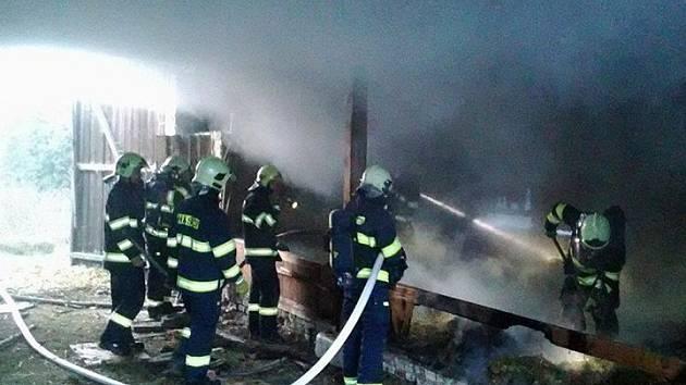 Požár v Koutě na Šumavě.