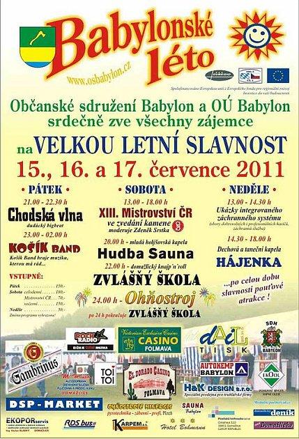 Program Babylonského léta 2011.