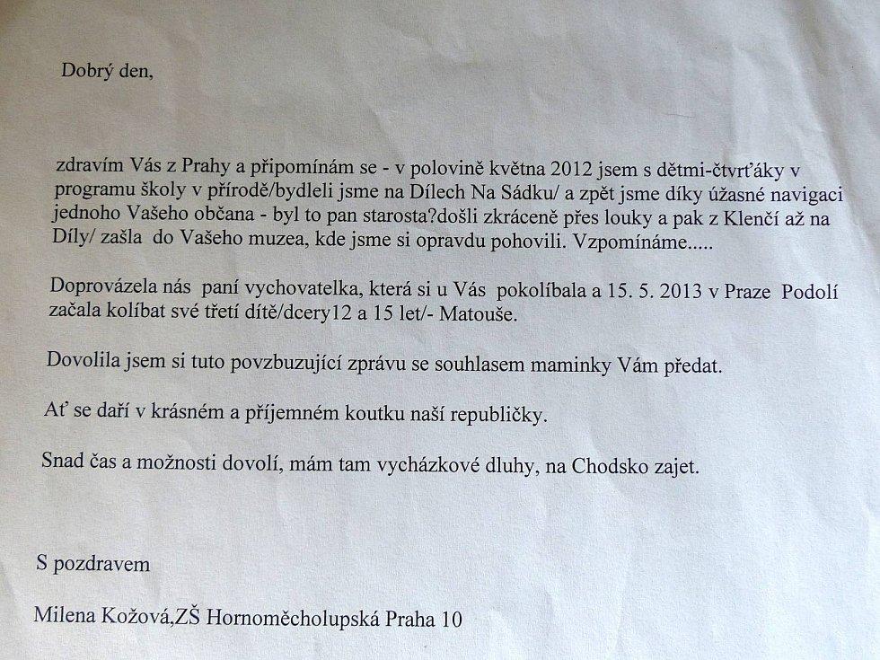 Z Pamětní síně J. S. Koziny. Kolébka dělá zázraky.
