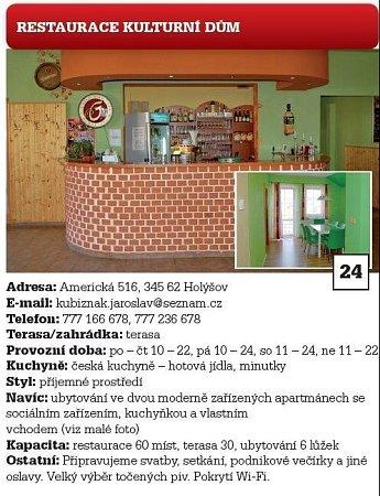 Restaurace Kulturní dům.