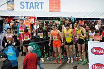 Během své běžecké kariéry absolvoval Martin Frei například pražský půlmaraton v roce 2012 (na startu uprostřed v oranžovém dresu).
