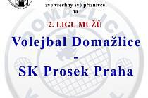 Volejbalisté Domažlic hostí Prosek.