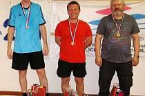 Nejlepší jednotlivci z finále mužů - vpravo je domažlický Jiří Kalista.