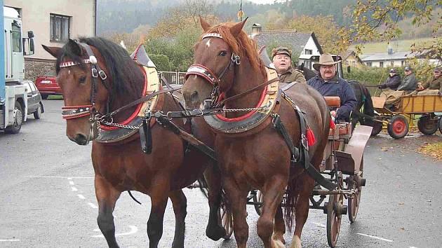 Hubertská jízda v Mezholezích u Kdyně
