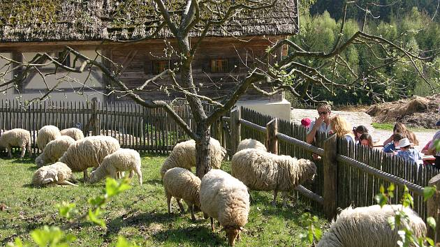 Hornofalcký skanzen v Bavorsku.