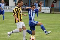 Z pouťového utkání ve Staňkově, kde se domácí FK utkal s rezervou Jiskry Domažlice.