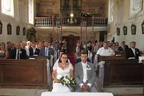 Novomanželé si semněvický kostelík zvolili také z důvodu své citové vazby, kterou ke zdejšímu kostelu mají.