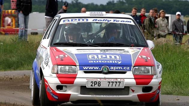 Sláva Ducháček s Petrem Dufkem na Rallye Bohemia 2007