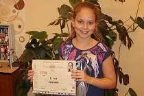 Kristýna Sokolová obsadila na pěvecké soutěži třetí místo.
