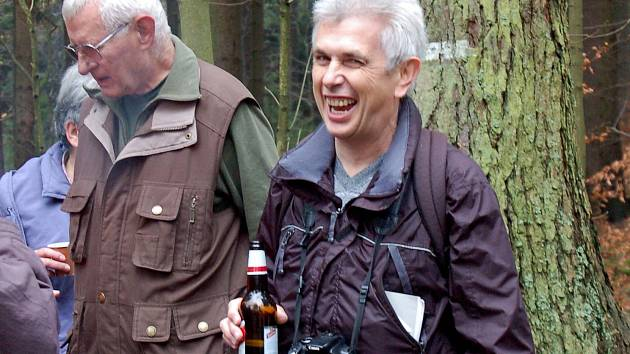 Karl Reitmeier je vždy v dobrém rozmaru. Takto jsme ho zachytili kdysi u Zelené chýše pod Českou studánkou.