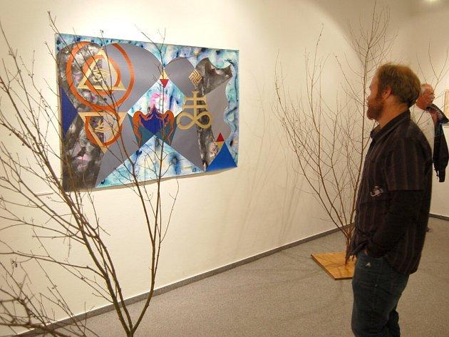 Z vernisáže nové výstavy v Galerii bratří Špillarů.