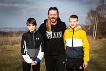 Zbyněk Soběhart se syny Matyášem (vlevo) a Tadeášem.