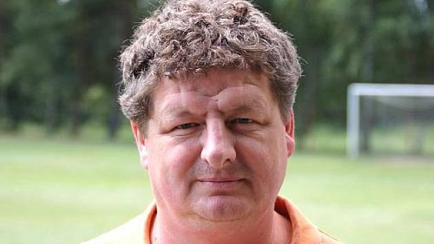 Hlavní trenér FK Holýšov Jiří Multrus