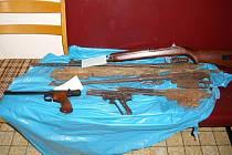 Zbraně odevzdané na Domažlicku v rámci amnestie.