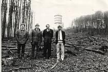 Karl Reitmeier (vpravo) poprvé na Čerchově, duben rok 1990.  Foto: archiv Karla Reitmeiera