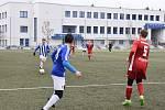 Jiskra Domažlice (v modrobílém) - SK Klatovy 1898 (v červeném) 6:2 (2:0).