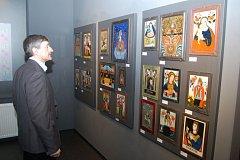 PODMALBY NA SKLE jsou unikátními exponáty ze sbírky Jindřicha Jindřicha.