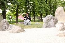 Japonská návštěva v poběžovické zenové zahradě.