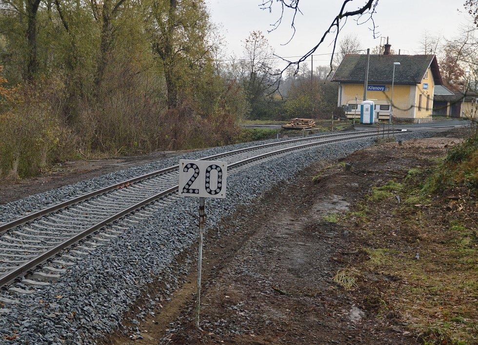 Oprava železniční cesty.