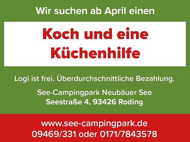 Wir suchen ab April einen Koch und eine Küchenhilfe