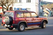Průjezd účastníků 46. Mogul Šumava Rallye kdyňským náměstím.