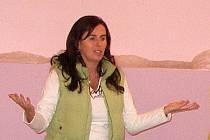 Dagmar Damková jako host na semináři rozhodčích v Klenčí pod Čerchovem.