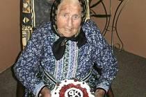 Marie Císlerová ze Starého Klíčova oslavila osmadevadesáté narozeniny.