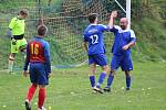 Sokol Milavče (v modrém) - SK Poběžovice (v červenomodrém) 3:0 (0:0).