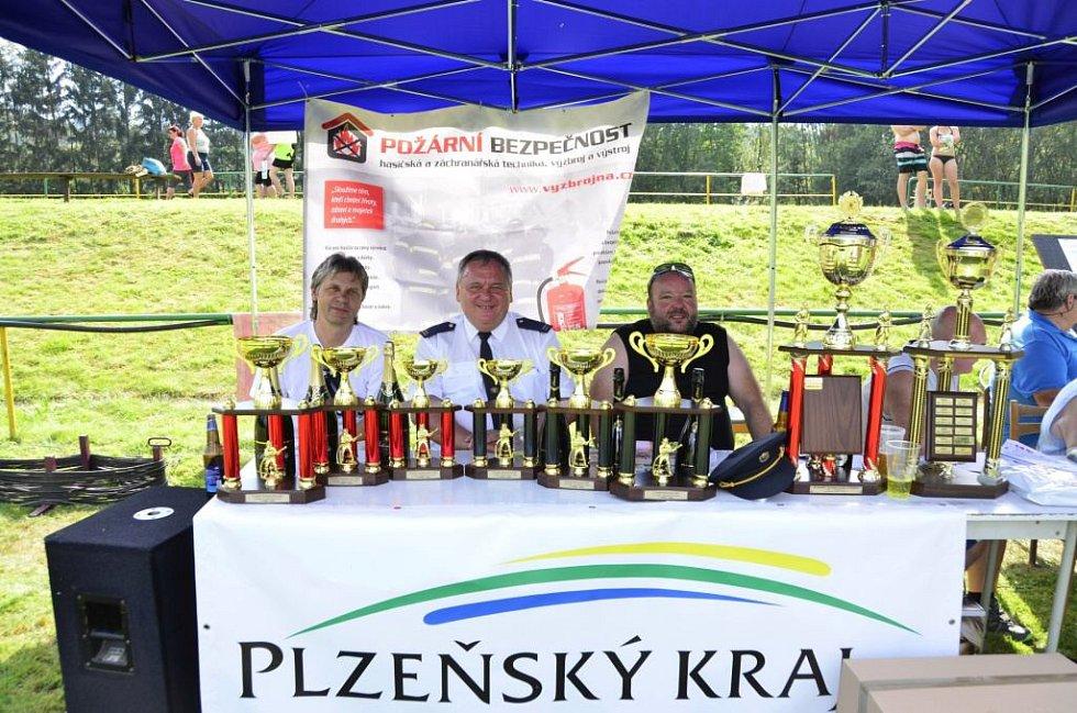 Hasičská soutěž v Tlumačově.