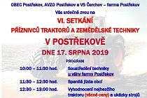 V sobotu se uskuteční již 6. setkání příznivců traktorů a zemědělské techniky.