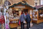 Z vánočních trhů v Domažlicích.