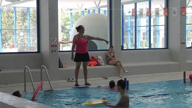 Dětský den v domažlickém bazénu.