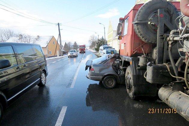 Nehoda vSemošicích.