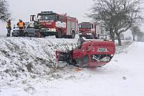 Nehoda mezi Stodem a Holýšovem.