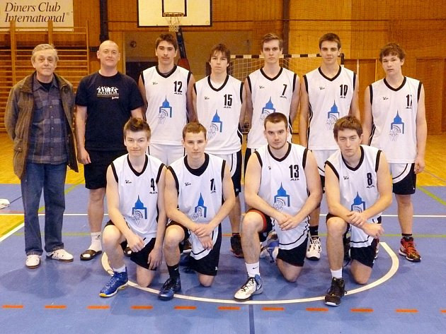 Společný snímek basketbalistů Jiskry Domažlice U19.