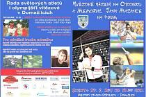 Plakát na Hvězdné házení na Chodsku 2011.