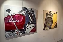 Autorem výstavy Indián je kdyňský výtvarník Václav Sika.