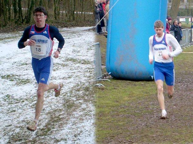 KROSAŘI Z CHODSKA. Martin Frei (vlevo) a Jiří Voják (vpravo) reprezentovali Českou republiku v Lusembursku, kde se konal závod v rámci Poháru IAAF.