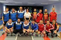 Ligová dohrávka kuželkářů Kdyně se soupeřem z Lokomotivy Tábor.