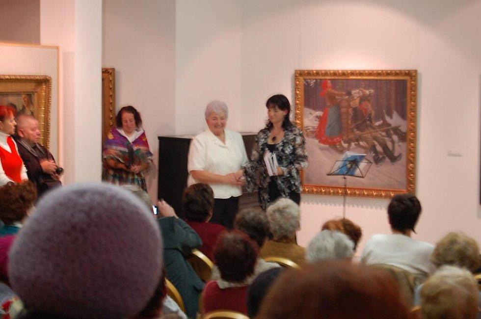 Křest knihy Ludmily Flieglové v Galerii bratří Špilarů 10. listopadu 2010.